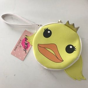 Betsey Johnson Queen Duck with Wings coin purse